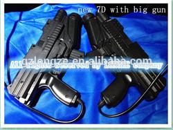 7D interactive cinema /kino/films/movies with interactive big imitation gun shooting game