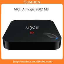 MXIII Amlogic S802 M8 Quad core android Smart TV BOX