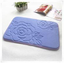 lion fleece memory foam bath mat with PVC/SBR backing/Memory foam bath mat_ Qinyi