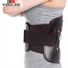 neoprene leather lumbar back waist support brace belt for back pain