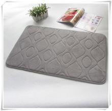 pvc acrylic memory foam patchwork wooden bathroom mat/Memory foam bath mat_ Qinyi
