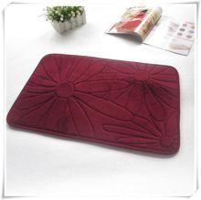 grey microfiber chenille anti skid mat in china/Memory foam bath mat_ Qinyi