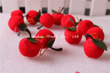 Christmas decoration red apple in stock
