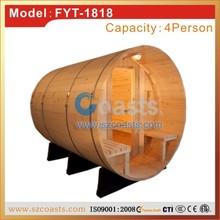 4 person outdoor barrel sauna room, sauna room with sauna heater