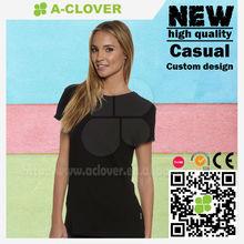 Branded apparel manufacturer OEM good quality plain black t shirts