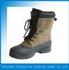 ZHENGJIANG cheap warm waterproof split leather winter snow boots men