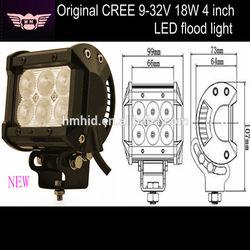 Spot/Flood beam 4 Inch 18W led work light bar 1260LM, offroad led spot light bar , ip68 led work lights