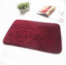 strong water absorption 100% polyester entrance floor mat/Memory foam bath mat_ Qinyi