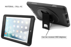 Shockproof rotating stand TPU hybrid case for iPad Air
