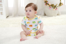100% cotton hot sale lovely baby boy and girl short sleeve romper
