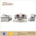 Sofá de couro clássico, metade sofá de couro, rústico sofá de couro lv-989