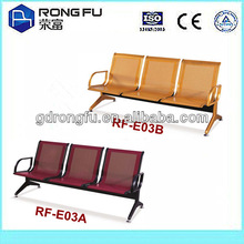 public waiting airport chair with powder coated steel