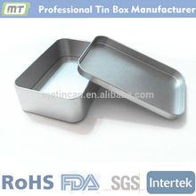Small rectangular metal tobacco tin case