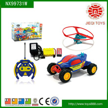 2014 newest 1:18 scale rc 5ch space car toy with helicopter and light 2 colours mix