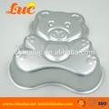 alumínio bandejas de bolo molde do bolo de cozimento panelas spot urso adorável shaped cake pan