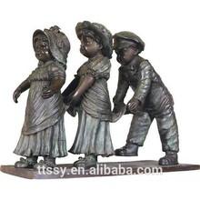 Bronze children school sculpture