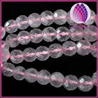 B grade 4mm natural rose quartz 64faceted round beads