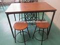 confortável e de alta qualidade retângulo cavalete de mesa de jantar