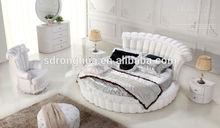 K1717 Luxury modern leather round bed