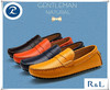 Fashion latest design leather casual loafers