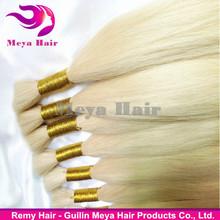 Top Quality Bleach Blonde Remy Hair Bulk 613# Virgin Human Hair Bulk