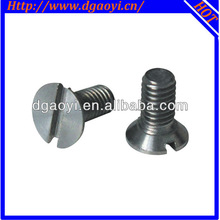 micro titanium alloy slotted full thread machine screw