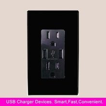 110V/220V electrical wall outlet with usb, American Plug-in Multi usb wall socket