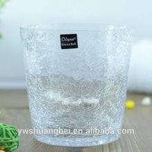 Bulk Crackled Glass Vase For Decoration Cheap Wholesale Different Types Glass Cylinder Vase