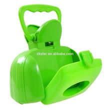 2015 new design high quality plastic pet dog pooper scoopers