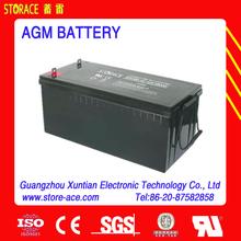 Sealed lead acid AGM 12v 180ah battery for outdoor equipment