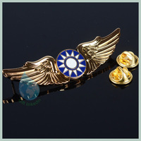 custom metal pilot wings pin badge china wholesale