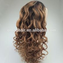 Alibaba express Olonghair rihanna style black short full lace wigs hair