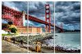 Golden gate köprüsü olmadan boyama çerçeveli, duvar resimleri