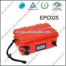 Hard plastic waterproof equipment case for mobile phones