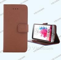 New design mobile phone leather flip case for LG G3 case smart phone