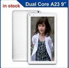 Hot sale 9 inch Allwinner A23 Android dual core tablet pc with dual camera