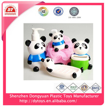 guangzhou manufacturer wholesale cheap colorful plastic bathroom accessories sets for kids