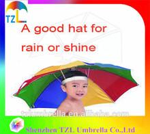 UV Protect 3 Fold Parasol Umbrella Hat,Kids umbrella,Solar umbrella