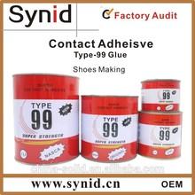 Liquid neoprene glue for shoes
