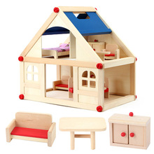 Simulation Scene Cottage Assembly Wooden Toy Doll House