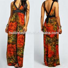 fashion bulk wholesale maxi halter sundresses for 2014 batik dress