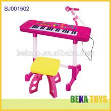 Fashion kids educational toy children plastic toy musical keyboard instrument 36 keys elegance electronic organ