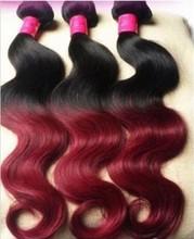 Wholesale colored two tone cheap brazilian hair weave bundles ,various colors two tone cheap weave bundles