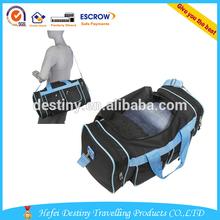 promotional hot selling big custom design many pockets men shoulder duffel bag