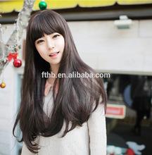 Lovely girl long fluffy long curly wig/pear flower head hair