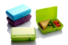 With removale sliding wall !New style plastic rectangle lunch box