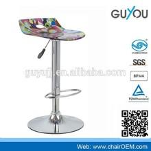 New Design Blue Acrylic Bar Chair Bar Stool For Coffee Shop YCW-121
