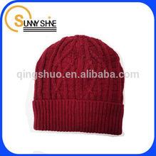 Sunny Shine custom 100% Acrylic winter men knitted hat