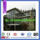 Enviromental fireproof soundproof aluminium balcony glass sunroom with low-e glass