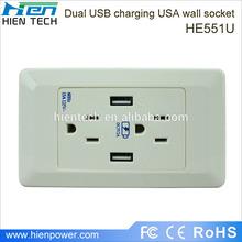 Residential using long cycle life dual usb output port socket usb